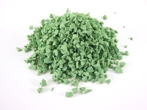 bright green EPDM rubber granules