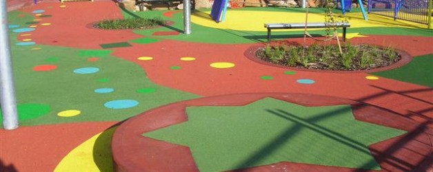 Playground Surfacing with EPDM Rubber Granules